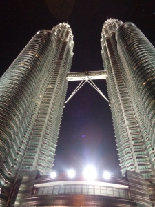 Vertical view of the Petronas Towers Kuala Lumpur